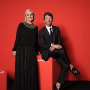 Maria Grazia Chiuri with Pierpaolo Piccoli for Valentino