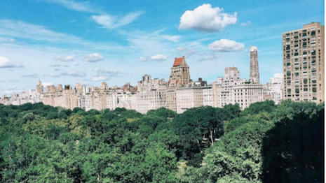Ritz-Carlton Instagram post feautring the Central Park hotel