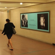 Tiffany & Co. out of home effort in Grand Central Terminal