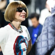 Anna Wintour wearing a Hillary Clinton tee designed by Marc Jacobs