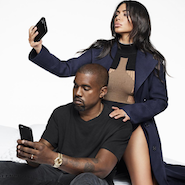 Kim Kardashian West and Kanye West photographed by Karl Lagerfeld for Harper's Bazaar