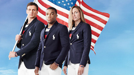Opening ceremony uniforms created for the U.S. Olympic team by Ralph Lauren