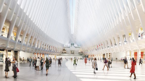 Rendering of Westfield World Trade Center's interior