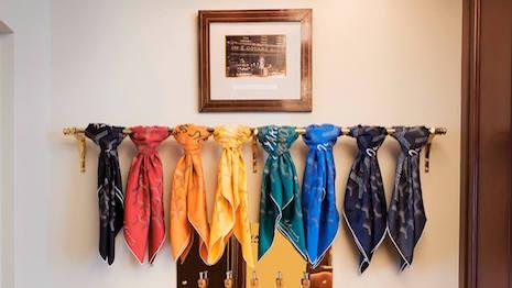 Goyard silk scarves