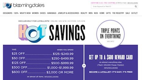 Bloomingdale's makes a point about savings