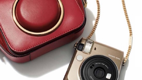 Michael Kors x Fujifilm Instax Mini 70 and Scout handbag (Photo by @FashionInstant/Alex Sweterlitsch, Courtesy of Michael Kors)