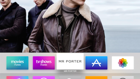 Mr Porter's Apple TV app