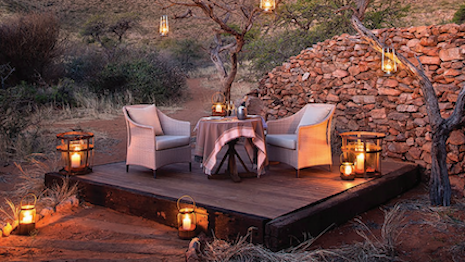Private dining at Tarkuni Safari Camp, South Africa