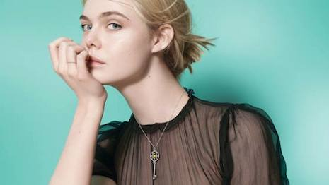Elle Fanning in Tiffany's Legendary Style campaign