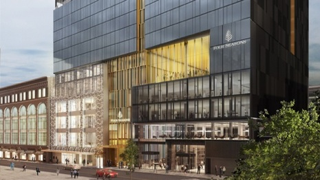 Four Seasons Hotel Montreal, computer rendering