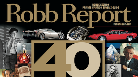 Robb Report's October 2016 cover
