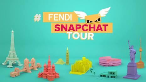 Fendi's Snapchat Tour