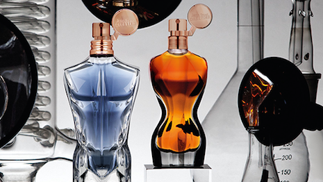 Jean Paul Gaultier's Le Male and Classique Essence de Parfum bottles