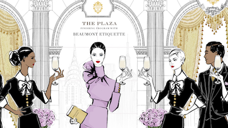The Plaza Hotel Finishing School. Illustration by Meghan Hess