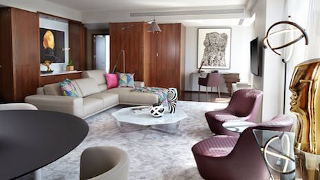 Roche Bobois suite at the Langham Place Fifth Avenue