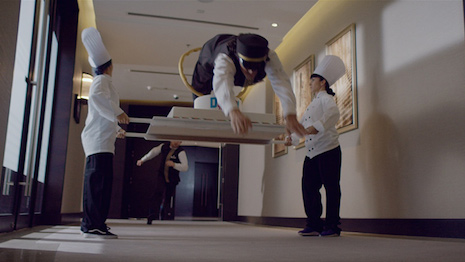"Video still from Marriott's ""Two Bellmen"""
