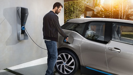BMW at-home charging station