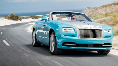 Rolls-Royce is one of the preferred drives of affluent consumers. Image of the Rolls-Royce Dawn open-top courtesy of Rolls-Royce Motor Cars