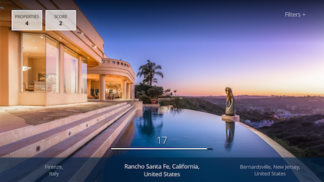 Screenshot from Sotheby's International Realty's Apple TV app