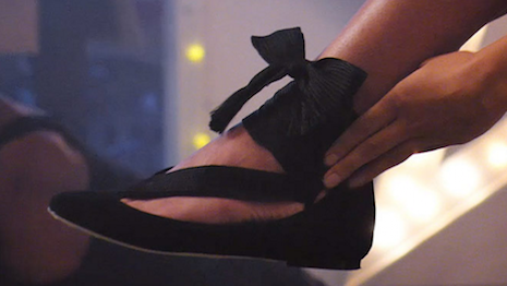 Ballet flat featured in Farfetch's Festive Remix