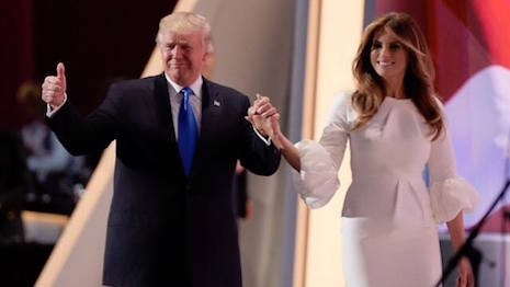President-elect Donald Trump with his wife, Melania