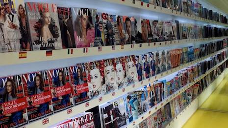 Titles at Condé Nast Worldwide News boutique in London