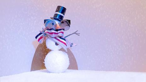 Fendi's snowman sporting its Hypnoshine sunglasses