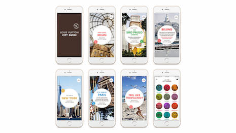 Louis Vuitton City Guides app