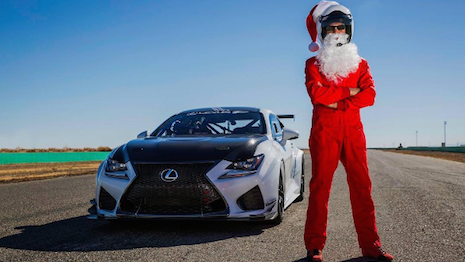 Scott Pruett for Lexus' Santa's Hot Lap