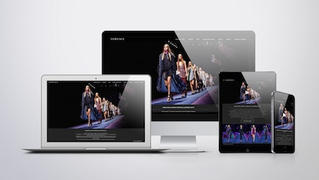 Versace's redesigned Web site