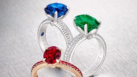 Fabergé engagement rings with colored-gemstones