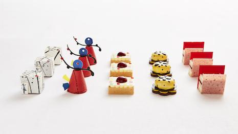 Rosewood London's Art Afternoon Tea cakes