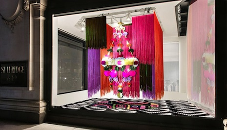 Selfridges' window display for Material World
