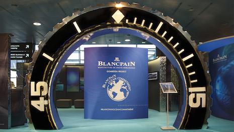 Blancpain's exhibit at Zurich Airport