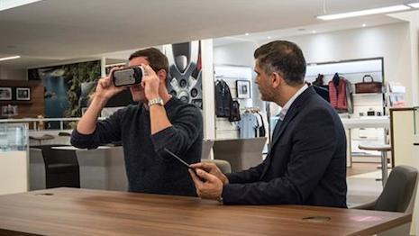 Jaguar Land Rover's virtual reality experience removes the need for a physical model
