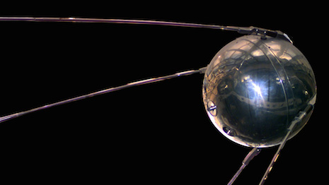 Image of the Sputnik 1 spacecraft. Courtesy of NASA.