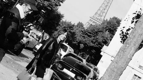 Alexa Chung with Loïc Prigent in Paris