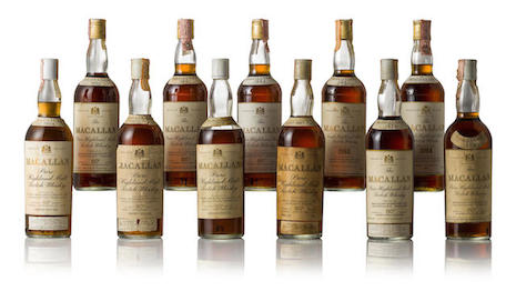 Lot from Bonham's online-only whisky sale