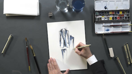 Brioni bespoke illustration