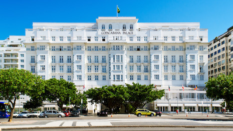 The Copacabana Palace is a landmark Rio de Janeiro hotel that is part of the Belmond hospitality group comprising 46 properties in 22 countries
