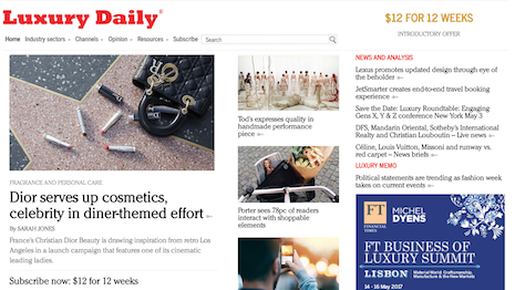Luxury Daily is the must-read publication for luxury marketers