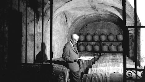 Maurice Hennessy in the cellars in Cognac