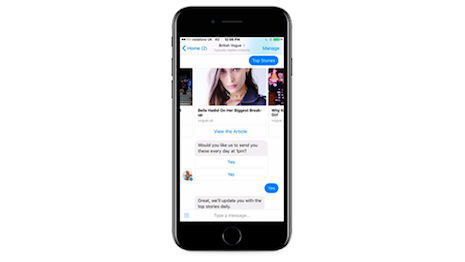 Vogue Messenger bot