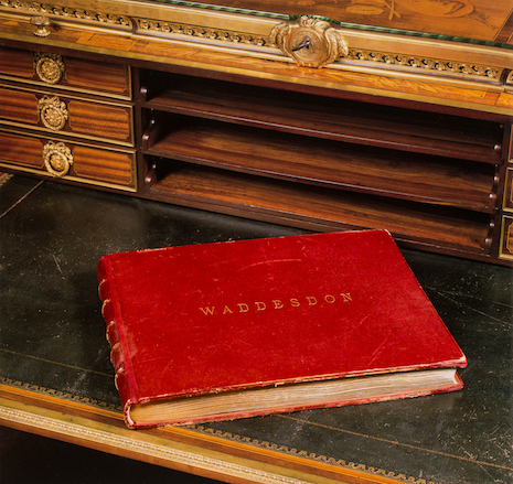 Only 10 copies of the Waddesdon Red Book commemorative volume were produced. Photo credits: Dianne Dubler and John Taylor