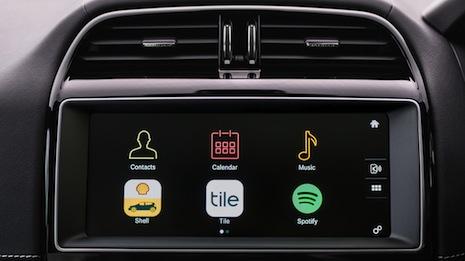 Jaguar's in-dashboard shell app