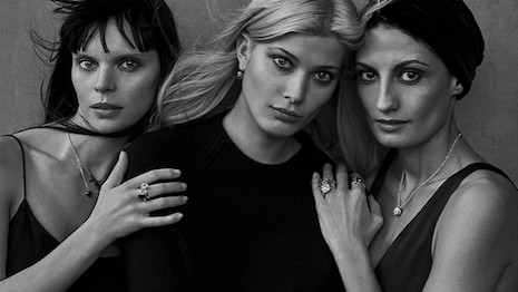 Pihla Hintikka, Larissa Hofmann and Helen Nonini for Pomellato 2017, photo by Peter Lindbergh