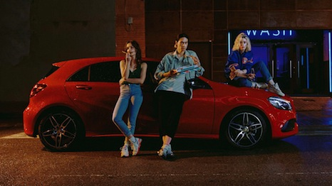 "Mercedes A-Class ad featured in ""Grow up. Spend time with family."""