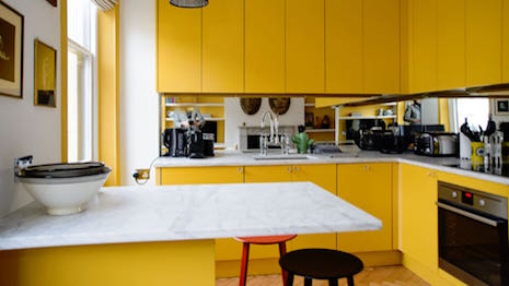 Kitchen designed by Maresca Interiors for a flat in London's Chelsea district