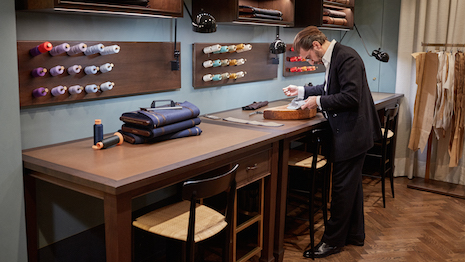 Zegna's master tailor at the Bespoke Atelier