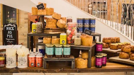 Fortnum & Mason display for British Pie Week March 7-12